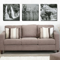 3 Pcs Black White Waterfall Definition Pictures Canvas Art Prints Home Decoration Living Room Modular Painting