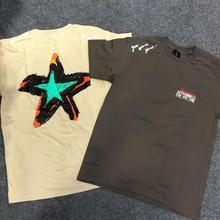 New Travis Scott Astroworld Tour T Shirt Men Women Graffiti Freehand Streetwear Summer T-shirt Harajuku Cotton ASTROWORLD Tshirt