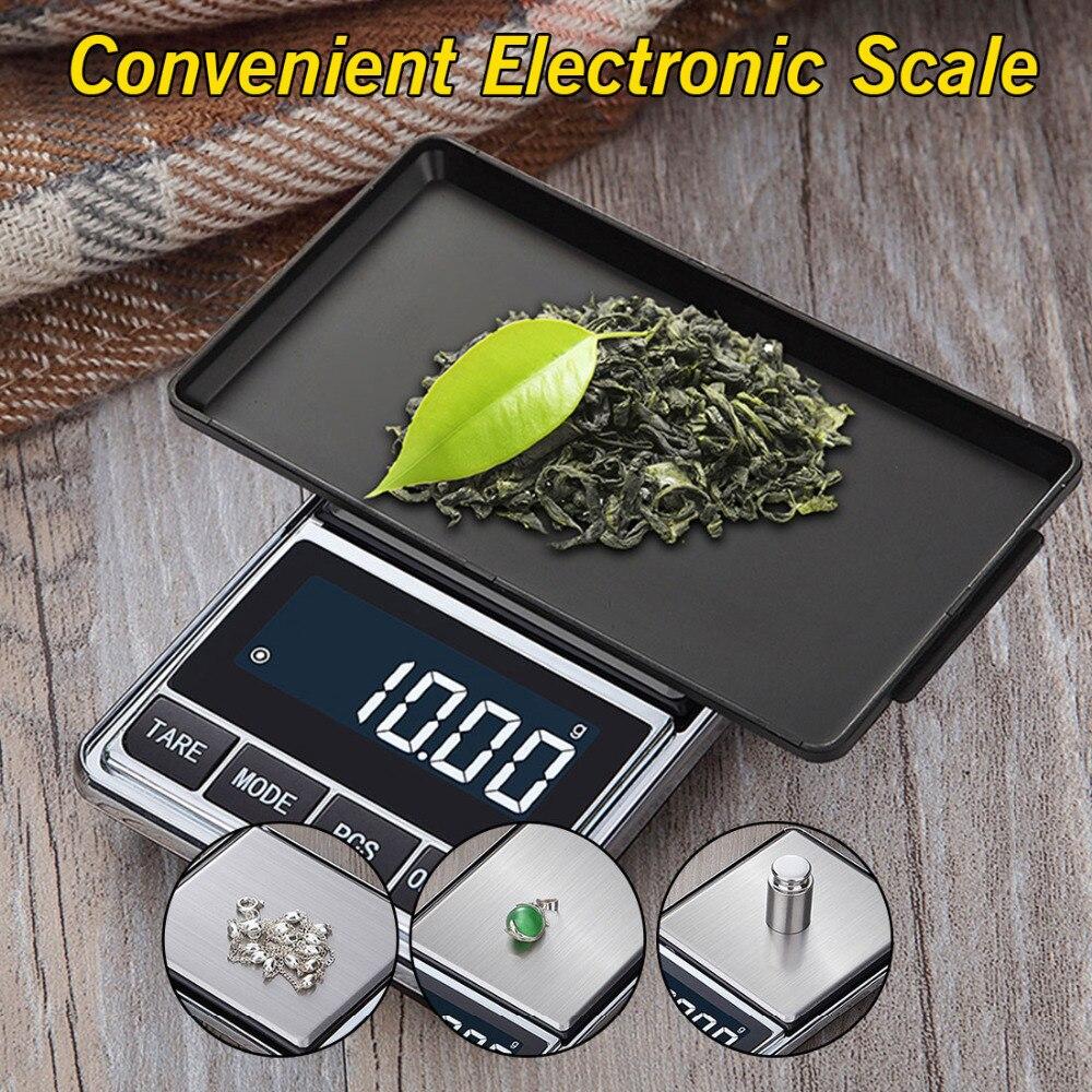 Mini Digital Scales Pocket Jewelry Scales Precision Electronic Balance Weight Balanca Digital Scale 500g/100g *0.01g