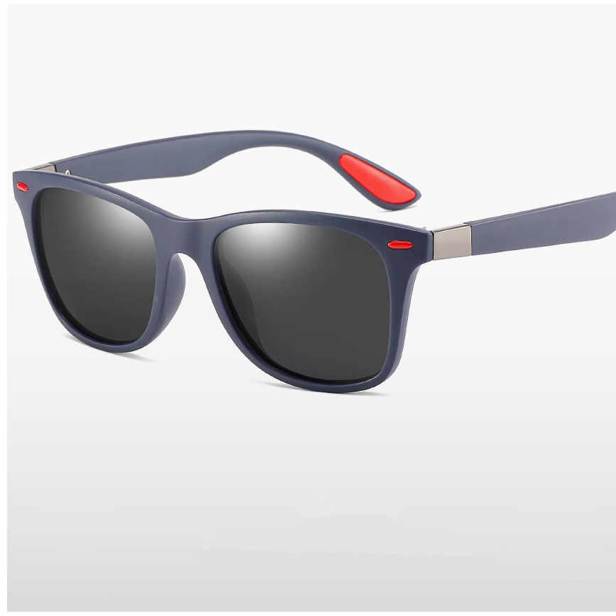 ZXWLYXGX الكلاسيكية الاستقطاب النظارات الشمسية الرجال النساء العلامة التجارية تصميم القيادة إطار مربع نظارات شمسية الذكور حملق UV400 Gafas دي سول