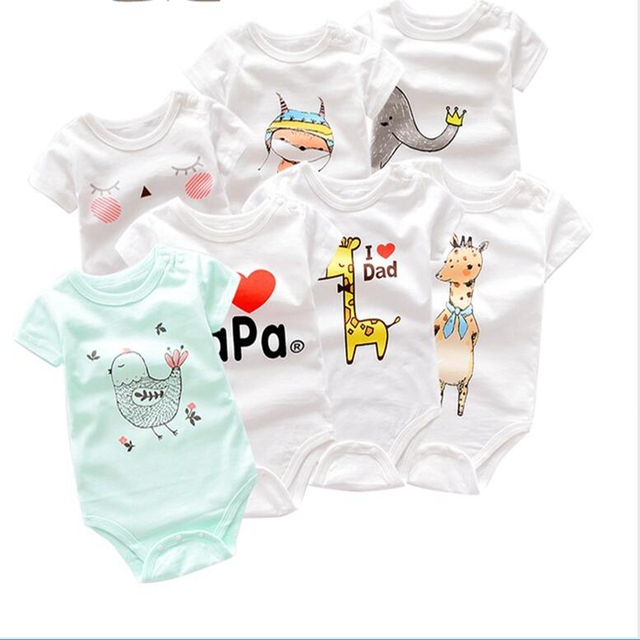 42419f0d4ed Summer Baby Clothes Baby Boy Romper Animal style Short Sleeve infant  rompers Jumpsuit cotton Baby Rompers Newborn Kids clothing