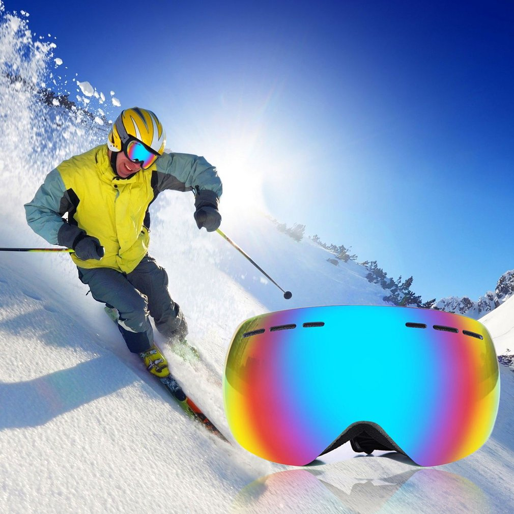 Outdoor Safety Goggles Double-layer Windproof Skiing Goggles Anti-fog Spherical Surface Eyes Protector Hot UV400