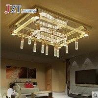 Z Modern Luxurious Rectangle Crystal Chandelier Round Atmosphere Bubble Column Ceiling Lamp For Livingroom Bedroom Lighting