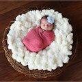 1 UNIDS Bebé Suave Manta Fotografía Para Apoyos de La Foto 60*60 cm blanco Ropa de Recién Nacido Fina Bebés Accesorios