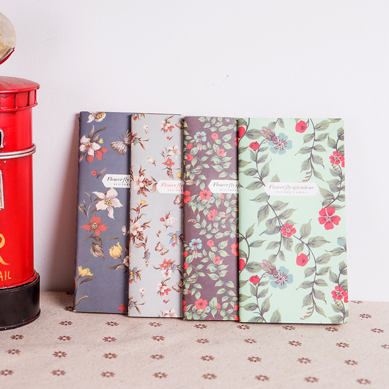1PC New Retro Dancing Butterflies Series Notebook Vintage DIY Diary Pocket Notepad