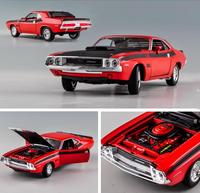 Dodge Challenger 1970 Muscle Retro Sports Car,1:24 Advanced alloy car toy,collection model diecast metal model toy vehicle