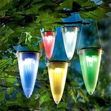 LED Solar Outdoor Gazon Licht Waterdichte Kleurrijke Kleur Opknoping Lamp Automatische Kleurverandering Landschap Verlichting