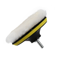 4/5/6 inch Wool Polishing Buffing Waxing Pad Accessories Wool Polishing Pad Polishing Plate M14 Connector Drill Car Polisher Machine Tools & Accessories