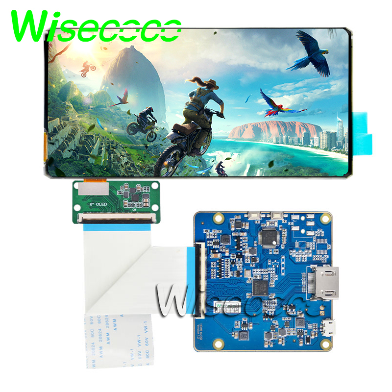 Original New Flexible Oled Display 6 Inch 2160x1080 With HDMI Controller Board For 18:9 Flexible Oled Display  Free Shipping