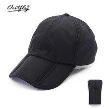 Outfly folding sun hat cap cap outdoor foldable quick dry sun fishing fishing hat waterproof men sports duck cap цена