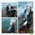 High quality synthetic silver straight BJD SD doll wigs 1/3 1/4 1/6 for choose