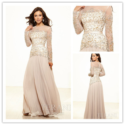 2014 New Formal Evening Gown For Mother Gold Brides