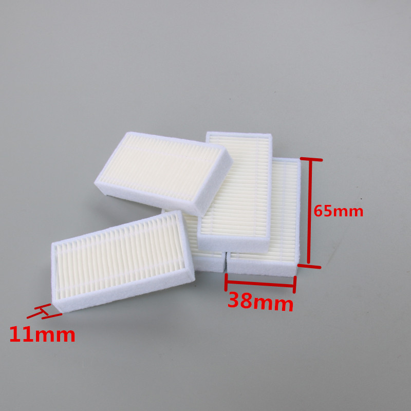 5 pieces/lot Robot Vacuum Cleaner Parts HEPA Filter for haier Xshuai T370 KK320-BG T350B j3500 SWR-T320S Fmart ER550WS haier xshuai shuaixiaobao robotic vacuum cleaner