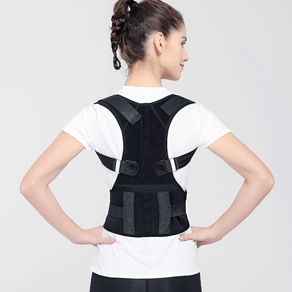 Men Women Magnetic Posture Corrector Adjustable Back Shoulder Brace Support Magnetic Therapy Posture Correction Dropshipping 2 pieces magnet posture back shoulder corrector support brace magnetic therapy belt therapy adjustable length free shipping