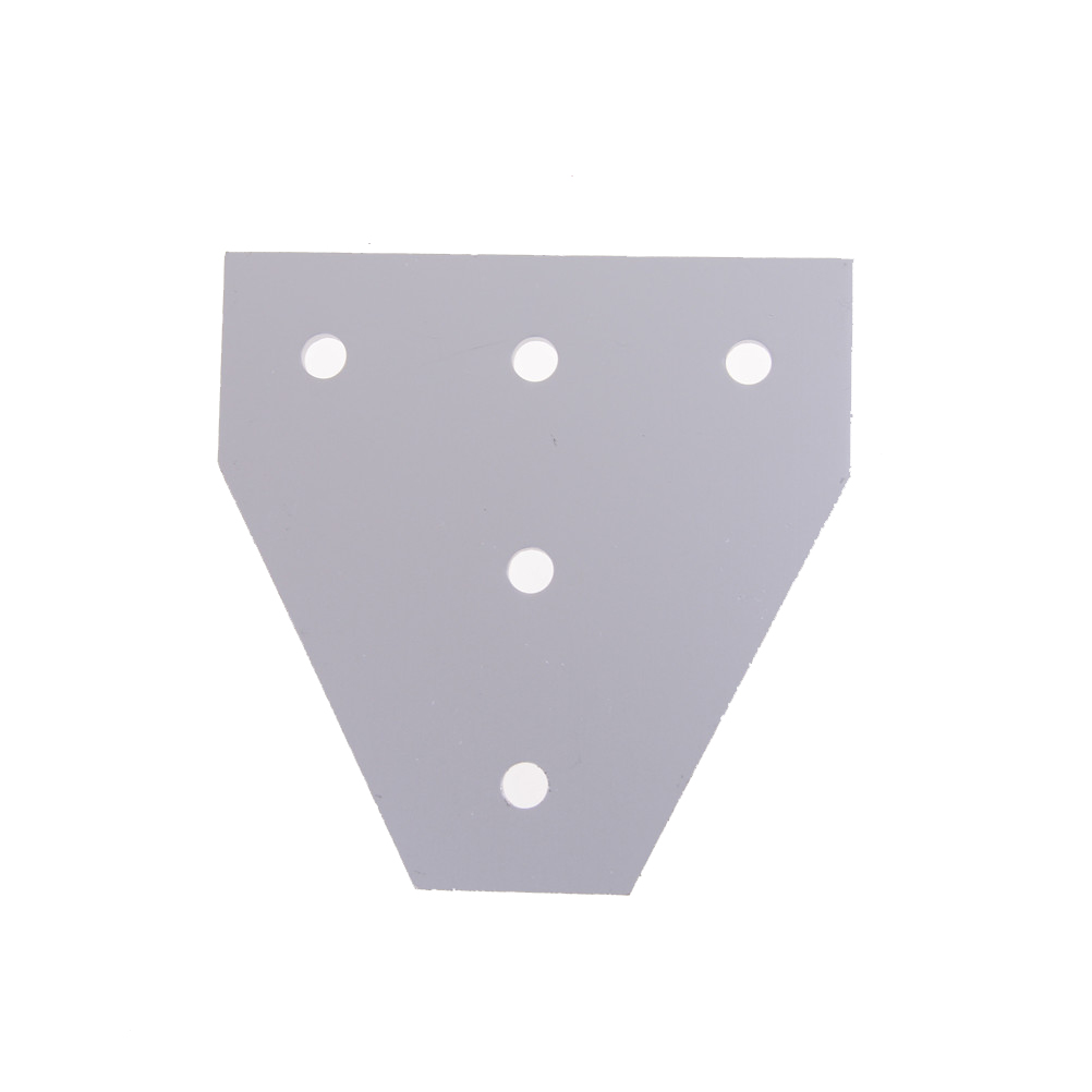 1PCS 6063-T6 Joint Board <font><b>Plate</b></font> <font><b>Corner</b></font> Angle Bracket Connection Joint Strip for Aluminum Profile <font><b>2020</b></font> with 57 holes image
