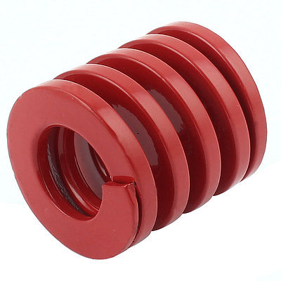 Red Medium Load Press Flat Coil Compression Die Spring 50mm x 25mm x 50mm t2 red copper d150mm x 25mm 2pcs