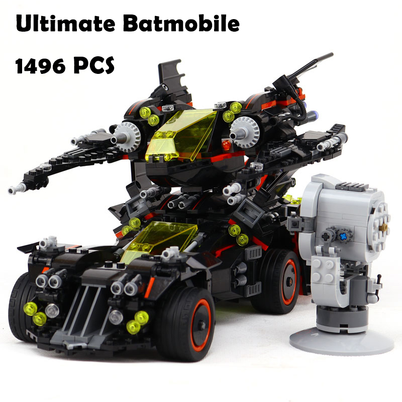 Compatible with Lego batman 70917 07077 super heroes Ultimate Batmobile Figure building blocks bricks toys for children building blocks super heroes back to the future doc brown and marty mcfly with skateboard wolverine toys for children gift kf197