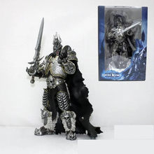 New Free Shipping High Quality WOW Figure Toy Lich King Alsace Lassic Toys For Boys Kids Toys 18cm(China)
