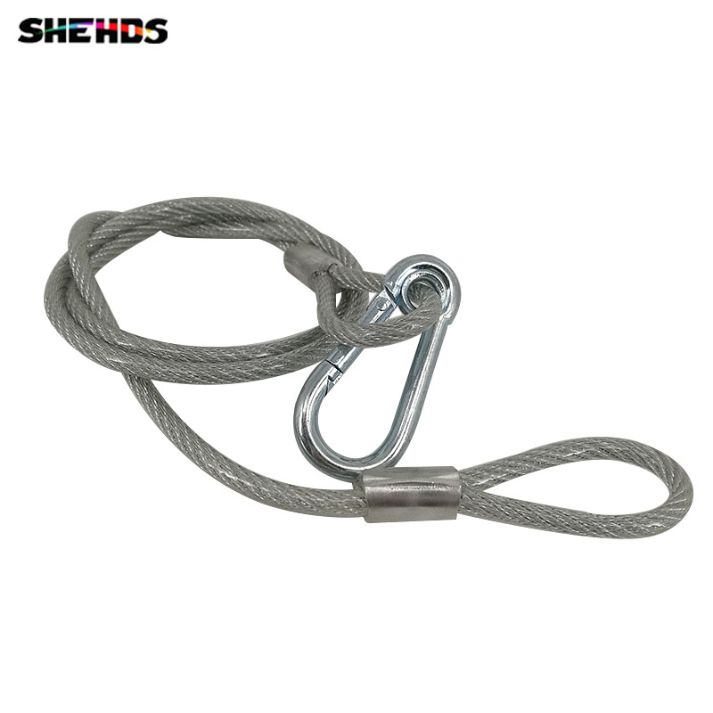 Stainless Steel Rope Loading Weight 40kg ,5mm Thickness Wire XR35 Safety Cables With Looped Ends For Securing Stage Lighting stainless steel rope loading weight 40kg 5mm thickness wire xr35 safety cables with looped ends for securing stage lighting