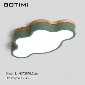 Image 5 - BOTIMI luces LED de techo en forma de nube con Control remoto, lámpara de techo moderna para sala de estar, accesorios de iluminación para dormitorio de niños