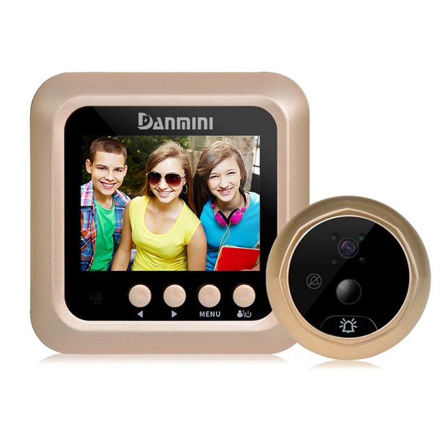 Danmini Q5 2.4'' Wireless TFT Color Screen Display Night Vision Camera Video Peephole Camera Visual Doorbell No Disturb Viewer