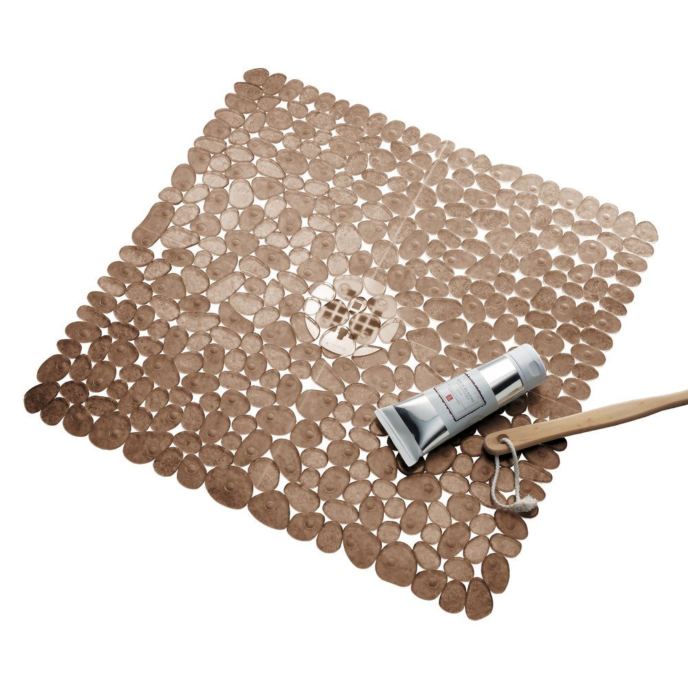 54X54CM Pebble Non Slip Suction Bath Mat Non Slip Square Shower Mat ...