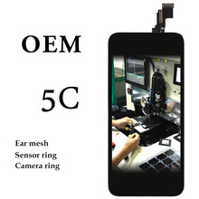 10pcs For iPhone 5C LCD Display 4 Inch Black Touch Screen Panel Digitizer Assembly Phone Spare Parts + Camera Holder Ear Mesh стоимость
