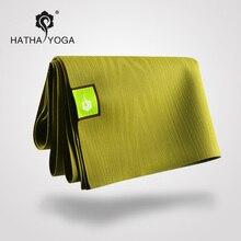 Hatha Natural Rubber slip resistant yoga mat yoga blanket 1 5mm folding ultra thin fitness mat