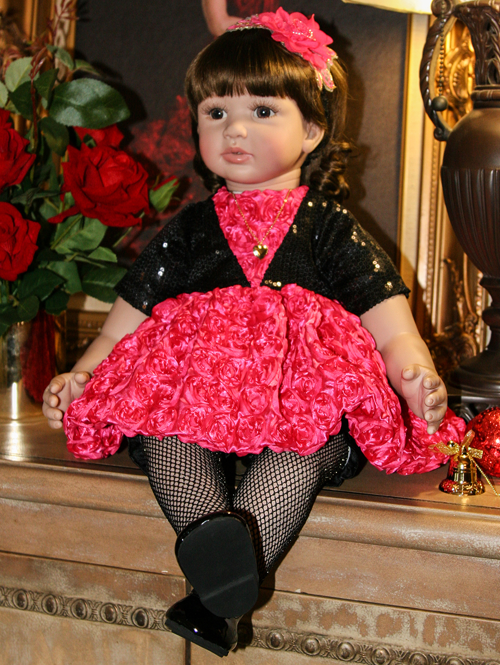 Pursue 24/60 cm Handmade Real Silicone Reborn Toddler Princess Girl Baby Alive Dolls Toys for Girls Birthday Christmas Gifts pursue 24 60 cm new pink dress real life baby dolls reborn silicone toddler princess girl dolls toys for children girl birthday