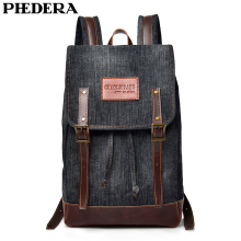 PHEDERA New Denim Female Backpack Bag Fashion Casual Women Backpacks Teenager Shoulder Bags 2018 Autumn стоимость