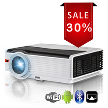 CAIWEI Android WiFi LED Projector Home Cinema Proyector Bluetooth 1280×800 Resolution Full HD Video USB TF HDMI AV