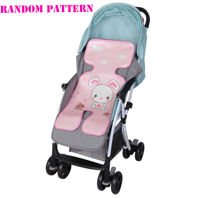Summer Baby Infant Car Seat Stroller Mat Bamboo Pad Coolness Cushion Baby Kids Seat Cute Protection Pram Stroller Accessories