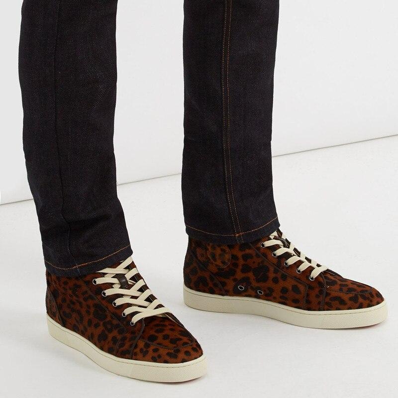 Qianruiti nuevos zapatos para hombre al aire libre, zapatos vulcanizados con diamantes de imitación, zapatos de Camping planos con cordones para hombres, zapatos de talla grande 39 47 - 5