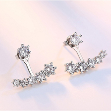 Six Claw Zircon Sterling Silver Fashion Earrings For Women