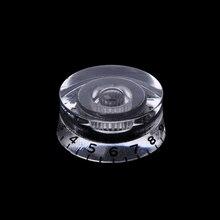 1pc Knob Button Electric Guitar Tone Volume Control For LP Guitar Parts Transparent Black
