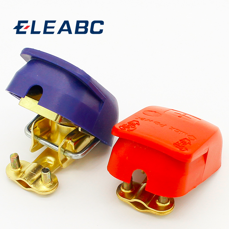 Quick Release Battery Terminals Clamps Connectors 12V ONE Pair Car Caravan Van Motorhome ON / OFF Snap on цены