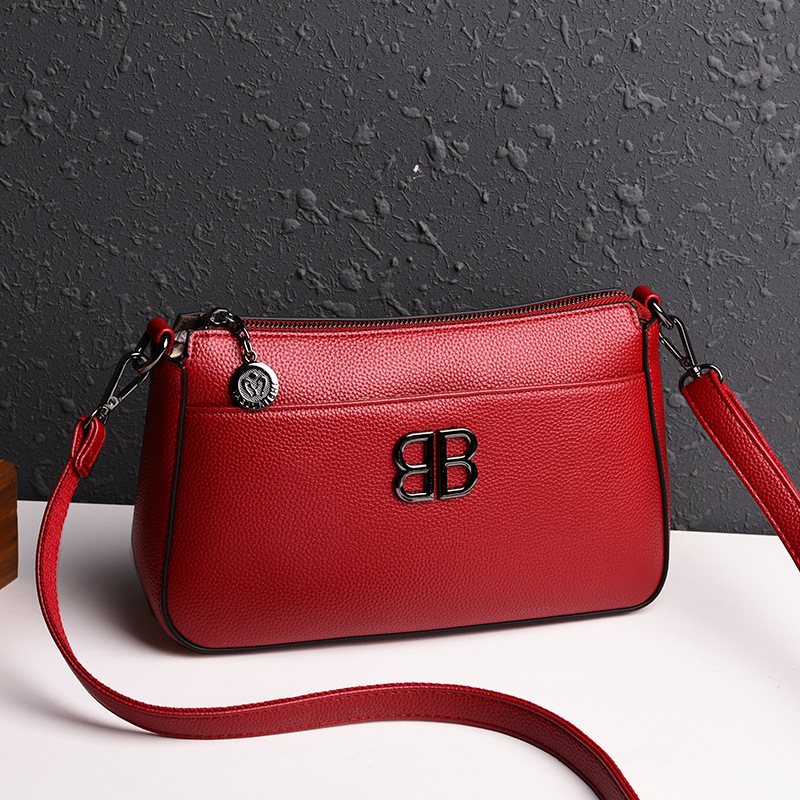 Image 2 - 2019 New Fashion Soft Leather Elegant Women Bags Handbags Genuine  Leather Small Fashion Crossbody Bags for Women Shoulder BagShoulder  Bags