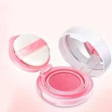 3 colos Waterproof Blusher Air Cushion BB Cream Makeup Paste Nude Rouge Cream Blusher Powder with Blush Sponge все цены