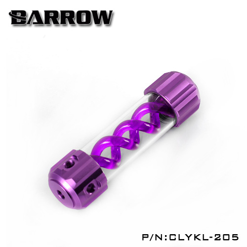 Barrow Aluminum Purple VIRUS T cylinder water reservoir water tank 205mm computer water cooling UV Lighting included CLYKL205 390mm cylinder water tank sc600 pump all in one set maximum flow 600l h computer water cooling radiator