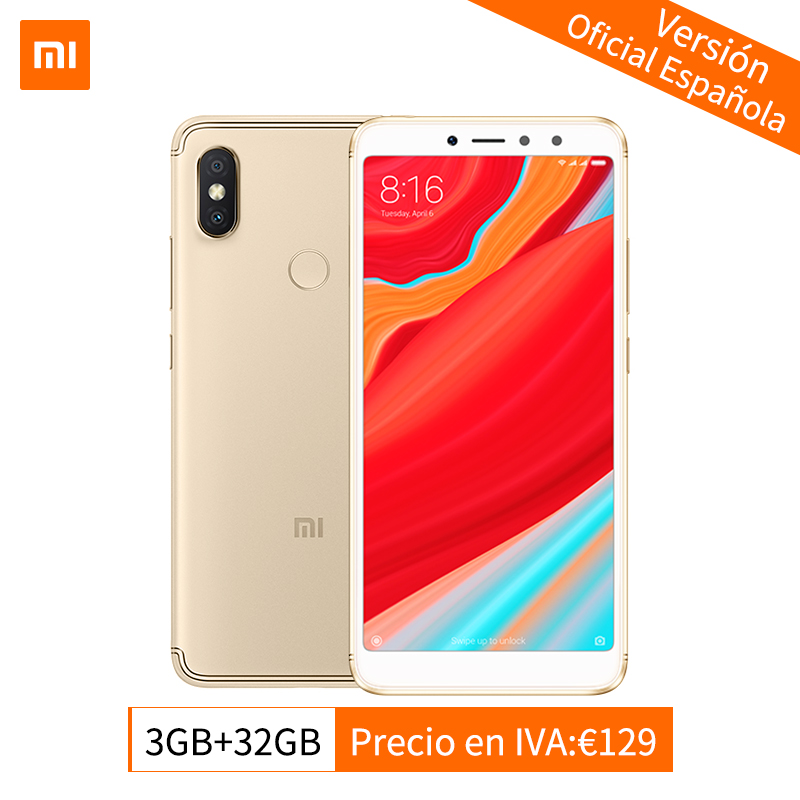 Global Version Originale Xiaomi Redmi S2 3 gb 32 gb Smartphone Snapdragon 625 Octa base 5.99 18:9 Plein Écran 12MP + 5MP Double Caméra