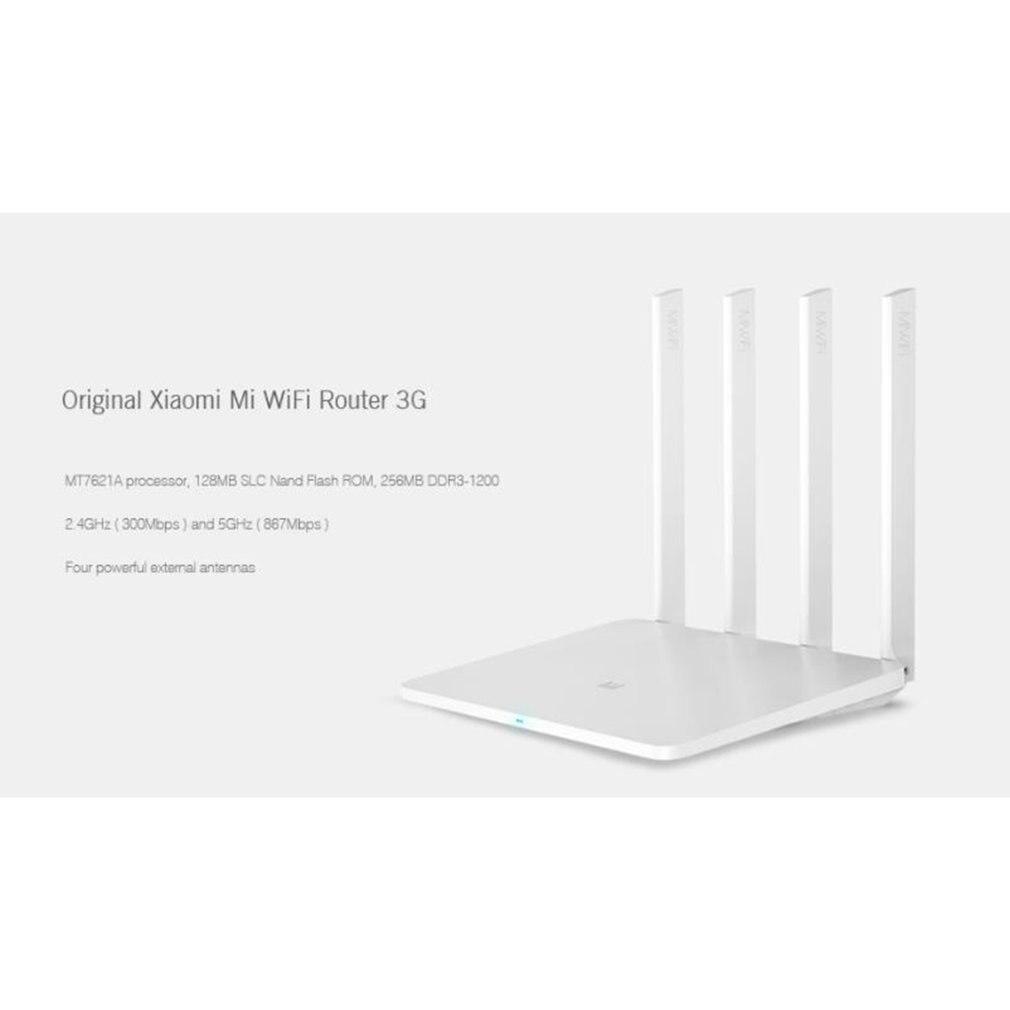 Xiao mi routeur 3G WiFi répéteur 1167 Mbps 2.4G/5 GHz double 128 mo bande Flash ROM 256 mo mémoire APP contrôle mi routeur sans fil 3g - 3
