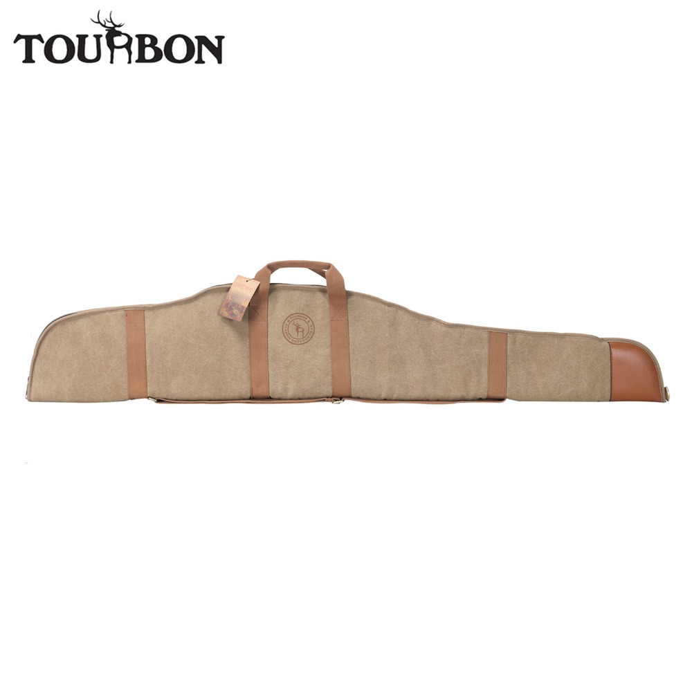 Tourbon Hunting Tactical Airsoft Scoped Rifle Case Shooting Slip Thick Padded Fleece Canvas Gun Protection Bag Gun Accessories 47 tactical hunting padded rifle sniper gun sling carrying case black