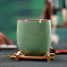 Cup tea set Pu'er Green Tea cups Coffee Handmade Cracking Retro Celadon Drinkware 6 colors