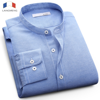 Mandarin Collar Casual Slim Fit Dress Shirts