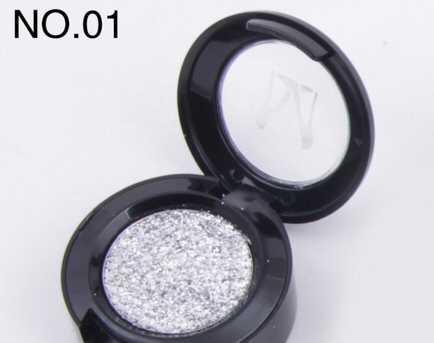 1 stücke Singel Farbe Lidschatten Schimmer Magnetische Metallic Gedrückt Glitter