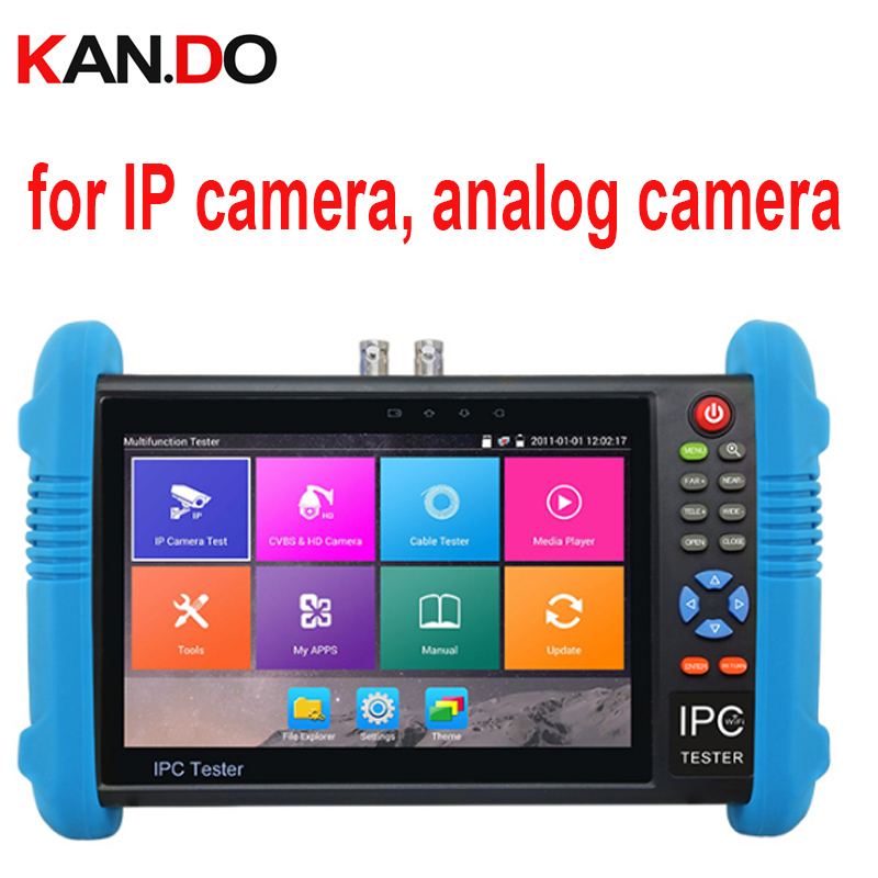 IPC-9800 Plus IP & Analog camera test Five In One Camera Tester W/ Screen display cctv camera display monitor test for IP camera