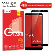 Velige Full Cover Tempered Glass for Huawei Mate 10 Lite 10Lite Screen Protector Real 2.5D  Toughened Safety Film