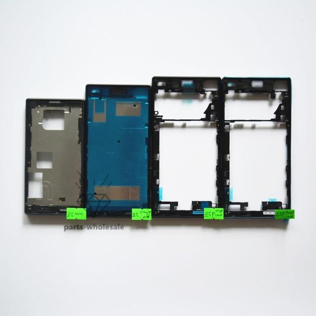 Original frente faceplate quadro oriente habitação + botão de volume de energia + tampa de carregamento para sony xperia z5 compact z5 z5 premium