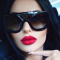 WINLA Newest Unique Women Sunglasses Square Glasses Vintage Big Frame Sun Glasses Acetate Shades Gradient Eyeglasses UV400