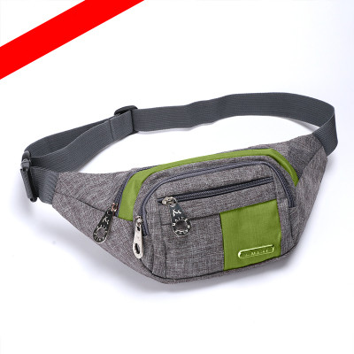 New Coming Unisex Shopping Waist Packs!Hot Casual Small leisure riding chest pockets pocket Top Canvas mobile&change Carrier image